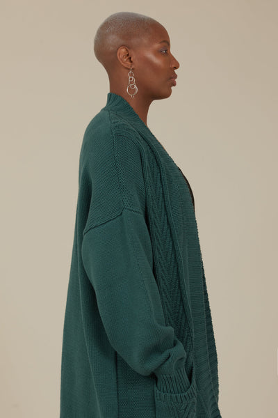 Orion Chunky Knit Cardigan (Sage)