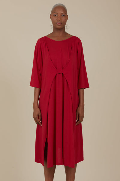 Sika Reversible Dress (Crimson)
