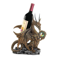 Winged Dragon Bottle Holder With Crystal Ball Wine Bottle Holder - The Tipsy Dragon