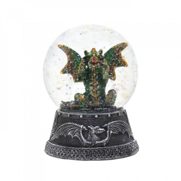 Green Winged Dragon Glitter Water Globe Water Globes - The Tipsy Dragon