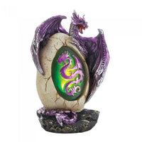 Purple Dragon Egg Statue Figurines - The Tipsy Dragon