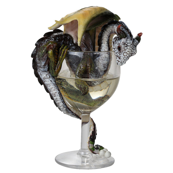 The White Wine Dragon By Stanley Morrison Figurines - The Tipsy Dragon