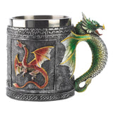 Full Color Royal Dragon Stainless Steel Mug Mugs and Goblets - The Tipsy Dragon
