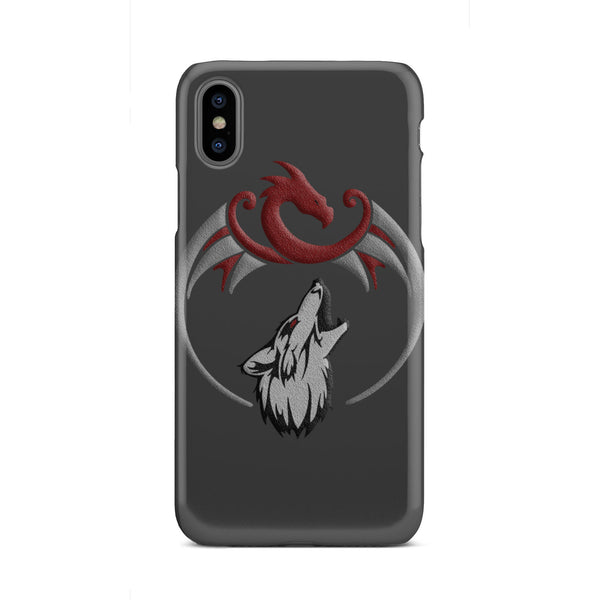 Dragon and Wolf Slim Phone Case Phone Case - The Tipsy Dragon