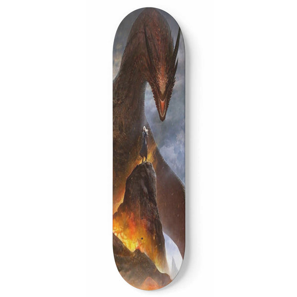 GOT Mother Of Dragons Skateboard Deck For Wall Mounting Or Build-Up 1 Skateboard Wall Art - The Tipsy Dragon