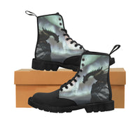 Dragon On Cliff Martin Boots for Women Martin Boots for Women (Black) (1203H) - The Tipsy Dragon