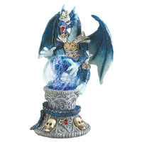 Winged Dragon With Color Changing LED Ball Figurines - The Tipsy Dragon