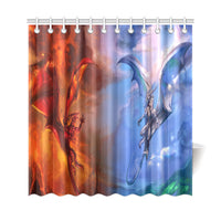 Fire and Ice Shower Curtain Bathroom Decor - The Tipsy Dragon