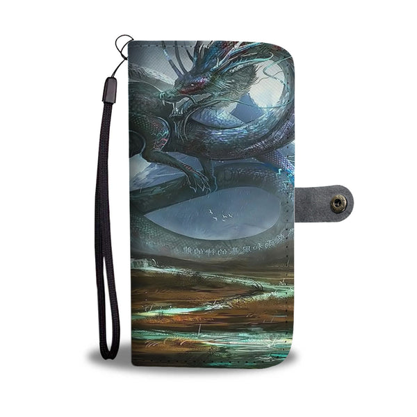 Asian Dragon Landscape Phone Wallet Case Wallet Case - The Tipsy Dragon
