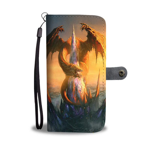 Orange Dragon On Crystal Spire Phone Wallet Case Wallet Case - The Tipsy Dragon