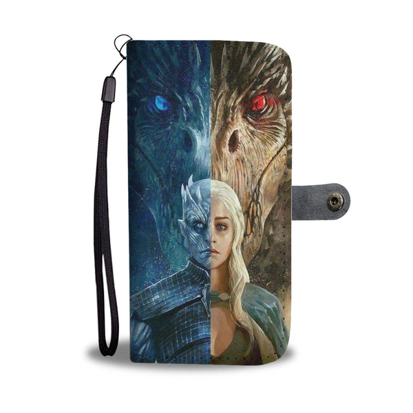 Night King and Dragon Queen Phone Wallet Case Wallet Case - The Tipsy Dragon