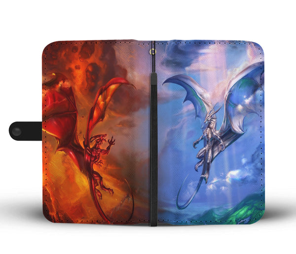 Fire And Ice Dragon Phone Case Wallet Wallet Case - The Tipsy Dragon