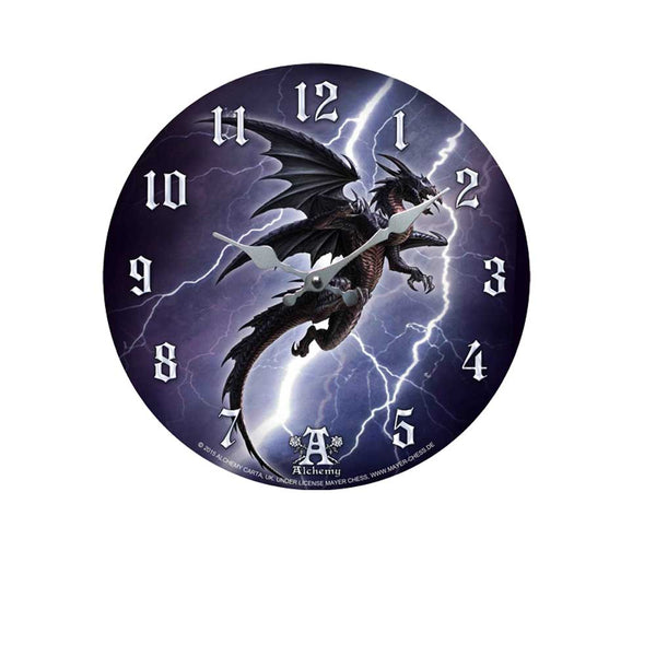 Lightning Dragon Wall Clock Clocks - The Tipsy Dragon
