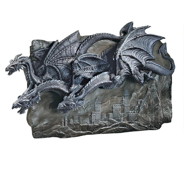 Castle Dragons Wall Sculpture Wall Decor - The Tipsy Dragon