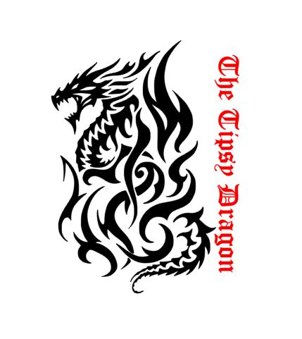 Tribal Fire Dragon Decal My Decals - The Tipsy Dragon