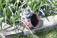 Garden Dragon Flower Pot Yard Statues - The Tipsy Dragon