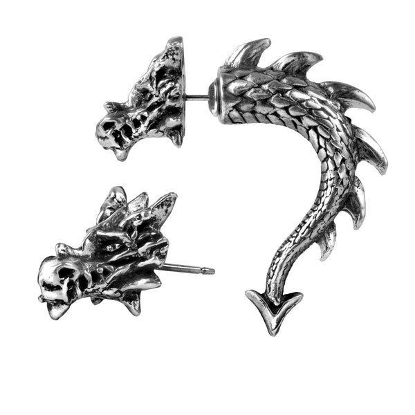 Dragon Faux Ear Stretcher Stud Earring Earrings - The Tipsy Dragon