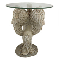 Winged Unicorn Glass Topped Table Tables - The Tipsy Dragon