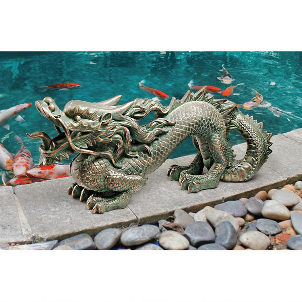 Asian Dragon Of The Great Wall Statues Yard Statues - The Tipsy Dragon