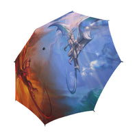 Fire and Ice Dragon Semi-Automatic Foldable Umbrella Semi-Automatic Foldable Umbrella - The Tipsy Dragon