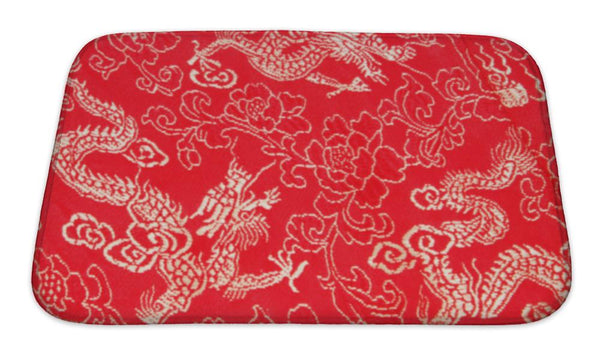 Bath Mat, Asian Dragon Pattern Bath Mat - The Tipsy Dragon