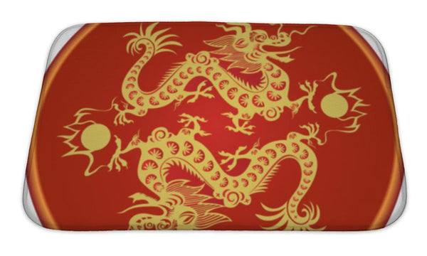 Bath Mat, Chinese Dragon Bath Mat - The Tipsy Dragon