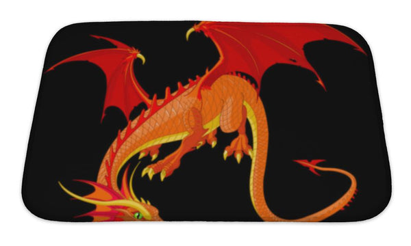 Bath Mat, Dragon Bath Mat - The Tipsy Dragon