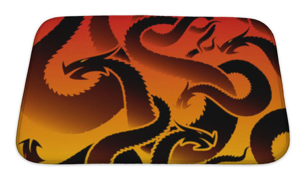 Bath Mat, Dragon Pattern Bath Mat - The Tipsy Dragon