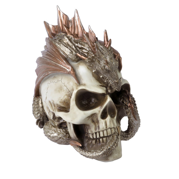 Dragon Keeper's Skull Desk Ornament Figurines - The Tipsy Dragon