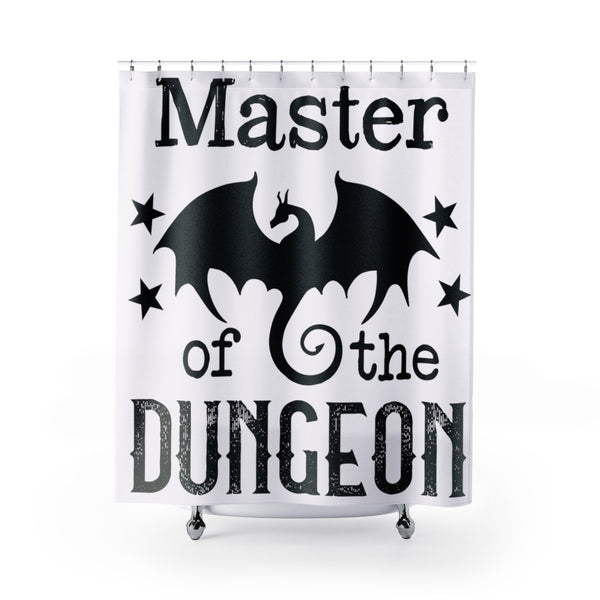 Master of the Dungeon Shower Curtain Bathroom Decor - The Tipsy Dragon