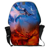Fire and Ice Dueling Dragons Messenger Bag Bags - The Tipsy Dragon