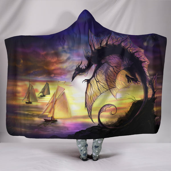 Dragon Sunset Hooded Blanket Hooded Blankets - The Tipsy Dragon