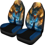 Dragon and Wizard Fantasy Bucket Car Seat Covers, Universal Fit Seat Covers - The Tipsy Dragon