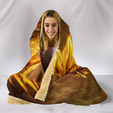 Golden Dragon Plush Lined Hooded Blanket  - The Tipsy Dragon