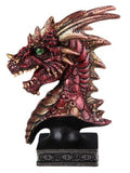 Dragon Bust, Red Blue or Green Figurines - The Tipsy Dragon