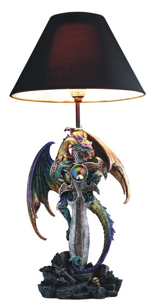 Purple and Green Dragon Lamp Lighting - The Tipsy Dragon