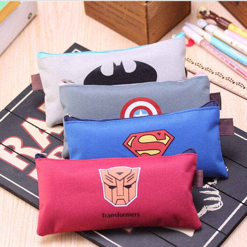 Vintage Super Hero Series Canvas Pencil Case