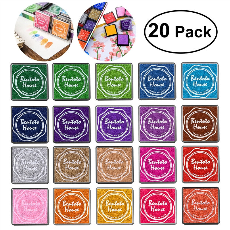 20pcs Multi-colored Finger Paint Ink Pad Set
