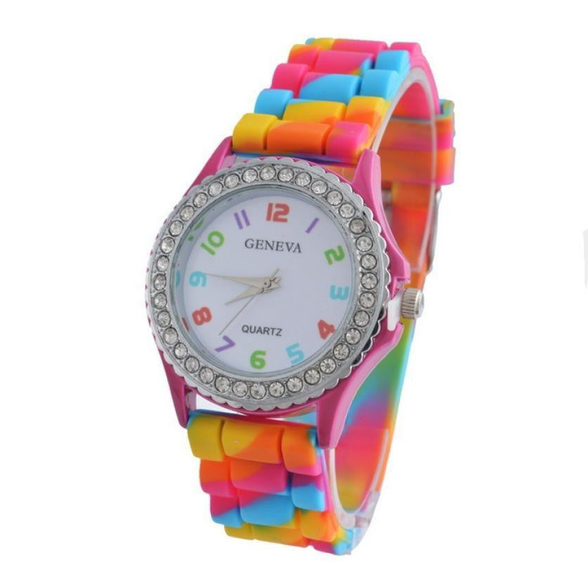 New Fashion Candy Color Kids Children Watch Gifts