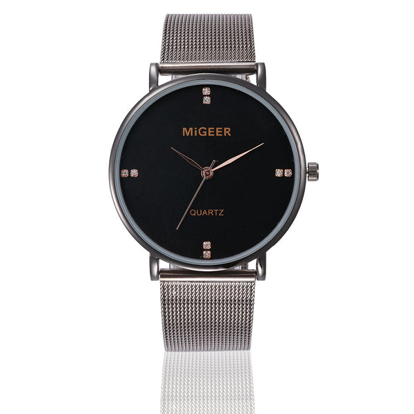 Unisex Casual Quartz Steel Strap Wrist Watch.