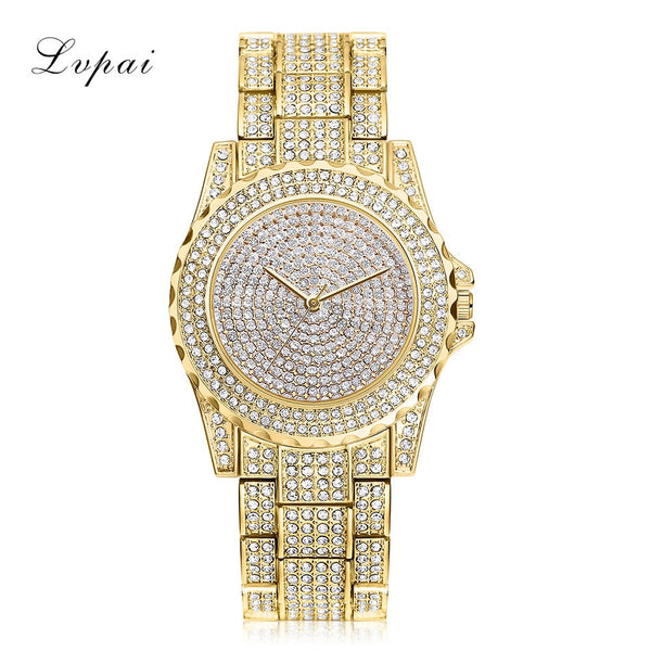 Women's Luxury Diamond Deluxe Wrist Watch.