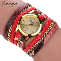 Luxury fashion heart pendant women watches