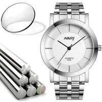 NARY Luxury Men Single Quartz Stainless Refined Steel Wrist Watches