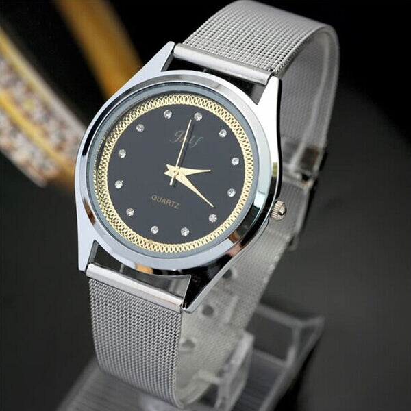 Fashion Casual Luxury Men Stainless Steel Band Quartz Wrist Watch