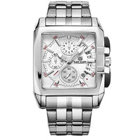 Men's Luxury Full Steel Band Date Quartz Business Style Watch.