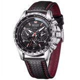 Mens Watches Top Brand Luxury Quartz Men Watch Fashion Casual Black PU Starp Clock