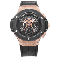 Men's Watch Leathter Chronograph Military Watches Sports Quartz Wristwatches