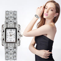Women's Stainless Steel Quartz Watch Rhinestone Crystal Analog Wrist Watch