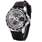 Men Skeleton Automatic Winding Mechanical Movement Watch