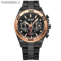 Original Men Watch Chronograph Multifunction Military Wristwatch 3D Dial Quartz Watches Men Clock